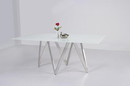 Chintaly Abigail ABIGAILDT Dining Room Table White, Main Image