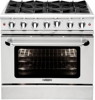 Capital Culinarian MCOR366N Freestanding Gas Range Stainless Steel, Main Image