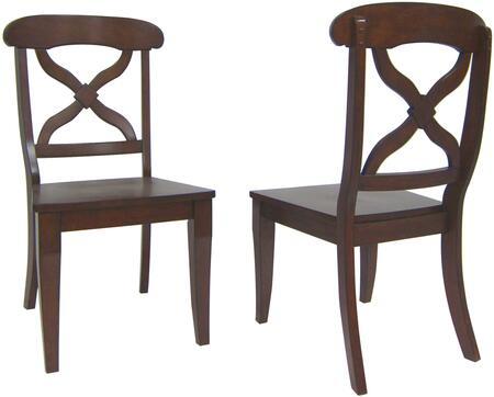 Sunset Trading Andrews DLUADWC12WDCT2 Dining Room Chair Brown, DLUADWC12WDCT2 Main View