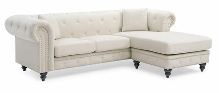 Glory Furniture Nola G0357BSC Sectional Sofa White, G0357BSC Main Image