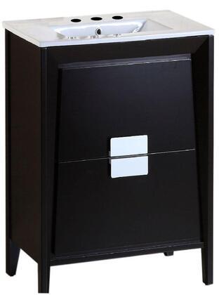 Bellaterra Home 500410 500410DESWH24 Sink Vanity Brown, Single Sink Vanity