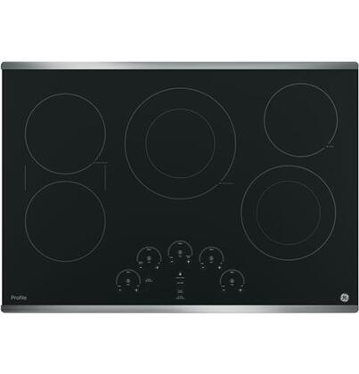 GE Profile  PP9030SJSS Electric Cooktop Black, Main Image