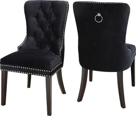 Meridian Nikki 740BlackC Dining Room Chair Black, Main Image