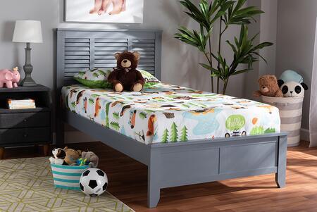 Baxton Studio Adela ADELAGRAYTWIN Bed Gray, 9601 6
