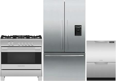 Fisher Paykel  971232 Kitchen Appliance Package Stainless Steel, main image