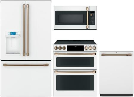 4 Piece Kitchen Appliances Package with CYE22TP4MW2 36″ French Door Refrigerator  CES750P4MW2 30″ Slide-in Electric Range  CVM517P4MW2 30″ Over the