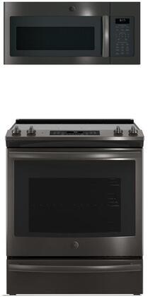 GE 869312 Kitchen Appliance Package & Bundle Black Stainless Steel, 1