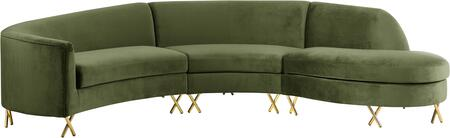 Meridian 671OliveSectional