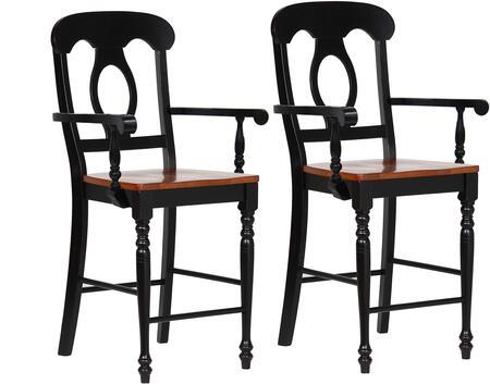 Sunset Trading Black Cherry Selections DLUB50ABCH2 Bar Stool Black, DLUB50ABCH2 Main View