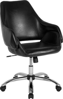 CH-177280-BK-GG Madrid Home and Office Upholstered Mid-Back Chair in Black