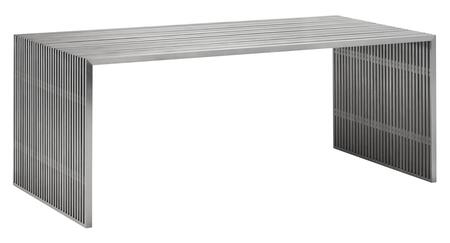 Zuo Novel 100082 Dining Room Table Silver, 100082 1