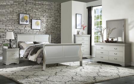 Acme Furniture Louis Philippe III 26700QSET Bedroom Set White, Bedroom Set