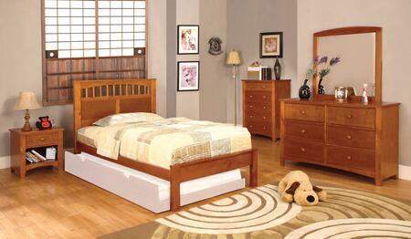 Furniture of America Carus CM7904OAKTBDMCN Bedroom Set Brown, CM7904OAKTBDMCN