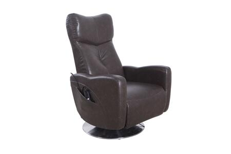 Vestal Collection VESTAL595001 Power Recliner with 360 Degree Swivel  Dual Motor Power Recline  Memory Foam Seating  All Steel Construction and