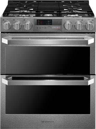 LG Signature LUTD4919SN Slide-In Dual Fuel Range Stainless Steel, Main Image