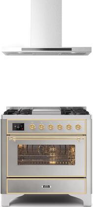 Ilve Majestic II 1150506 Kitchen Appliance Package Stainless Steel, 1