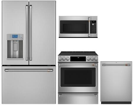 Cafe  1053218 Kitchen Appliance Package Stainless Steel, main image