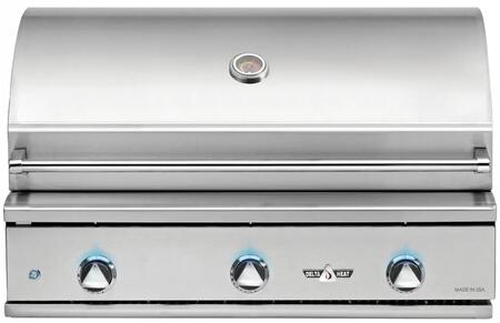 DHBQ38G-DL 38″ Built-In Liquid Propane Grill with Three Stainless Steel U-Burners  625 sq. in. Grilling Space  Warming Rack and LED Control Panel