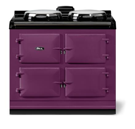 AGA Cast Iron Dual Control ADC3EAUB Freestanding Electric Range Purple, Front View