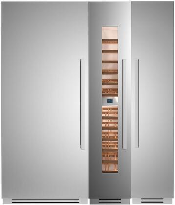 Bertazzoni  1309139 Column Refrigerator & Freezer Set Stainless Steel, 1