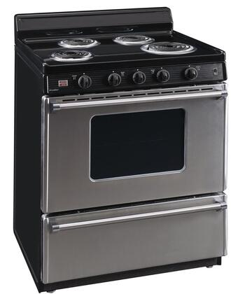EFK600BP 30″ Electric Range with 4 Elements  4″ Porcelain Backguard  in Stainless