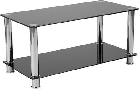 Flash Furniture Riverside Collection HG112347GG Coffee and Cocktail Table Black, HG 112347 GG
