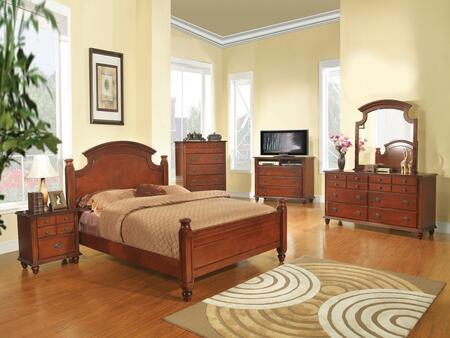 Glory Furniture Summit G5900AFBDMNCMC Bedroom Set Brown, Main View