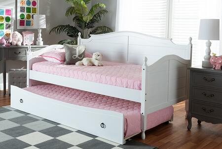 Baxton Studio 111.8 lbs. MG0030WHITEDAYBED Bed White, 9628 10