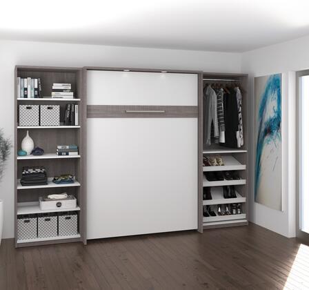 Bestar Furniture Cielo 8089447 Bed Gray, 80894-47 Open Bed