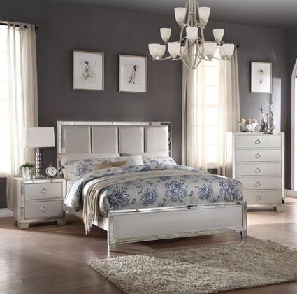 Acme Furniture Voeville II 24824CK3SET Bedroom Set Silver, Bedroom Set