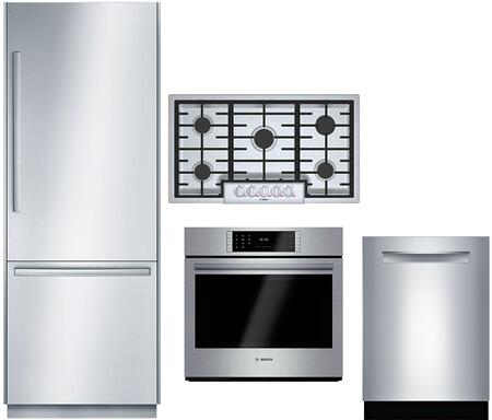 Bosch Benchmark  1052569 Kitchen Appliance Package Stainless Steel, Main Image