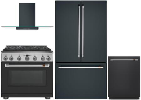 Cafe Matte Collection 1066864 Kitchen Appliance Package Matte Black, main image