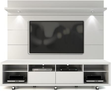 Manhattan Comfort Cabrini 2.2 21538482352 Entertainment Center White, 2 1538482352 A