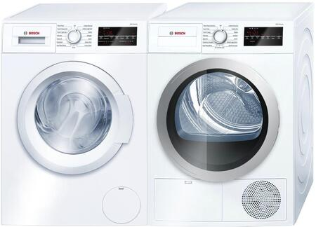 Bosch 300 Series 964085 Washer & Dryer Set White, Main Image