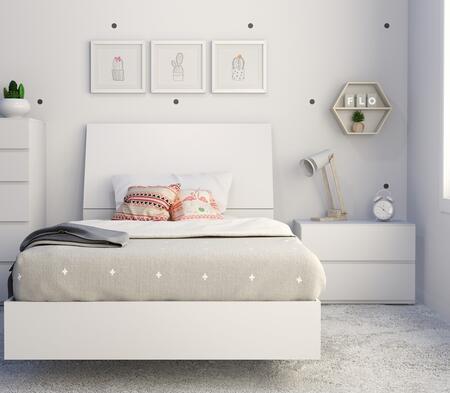 Nexera Paris 400780 Bedroom Set White, Main Image