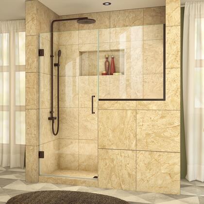DreamLine  SHDR2423363406 Shower Door , UnidoorPlus Shower Door 39 30D 30BP 06