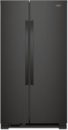 Whirlpool  WRS315SNHB Side-By-Side Refrigerator Black, Main Image