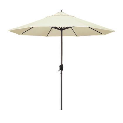 Casa Collection ATA908117-5453 9′ Patio Umbrella With Bronze Aluminum Pole Aluminum Ribs Auto Tilt Crank Lift With Sunbrella 1A Canvas