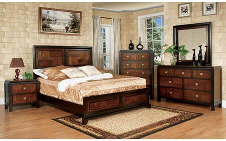 Furniture of America Patra CM7152CKBDMCN Bedroom Set Brown, Main Image