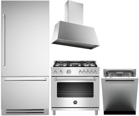 Bertazzoni  1394562 Kitchen Appliance Package Stainless Steel, Main image