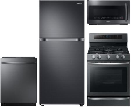 Samsung  908563 Kitchen Appliance Package Black Stainless Steel, Main Image
