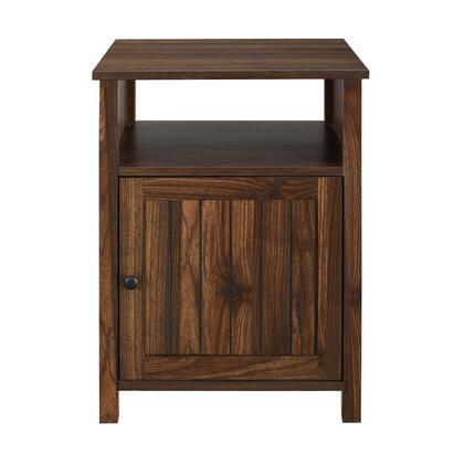 AF18CRASTDW 18″ Grooved Door Side Table – Dark