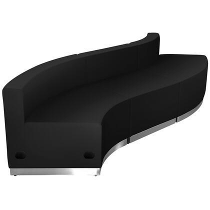 Flash Furniture Hercules Alon ZB803830SETBKGG Sectional Sofa Black, 1