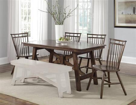 Liberty Furniture Creations II 38CD5RLS Dining Room Set Brown, Main Image