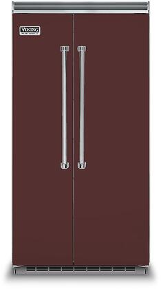 Viking 5 Series VCSB5423KA Side-By-Side Refrigerator Red, VCSB5423KA Side-by-Side Refrigerator