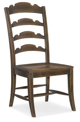 Hooker Furniture Hill Country 596075310BRN Dining Room Chair, Silo Image