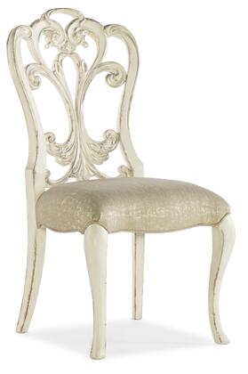 Hooker Furniture Sanctuary 2 58657561002 Dining Room Chair Beige, Silo Image