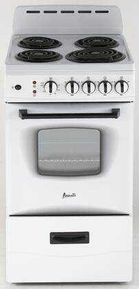 Avanti  ER20P0WG Freestanding Electric Range White, Main Image