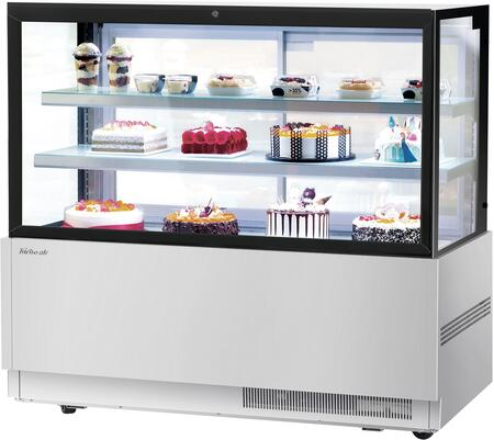 Turbo Air TBP6054FNS Display and Merchandising Refrigerator Stainless Steel, TBP6054FNS Angled View