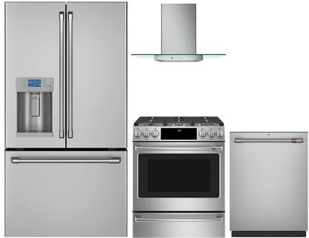 Cafe  1053459 Kitchen Appliance Package Stainless Steel, main image